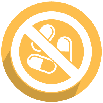 School District of Lee County No Opioids of prescription drugs icon